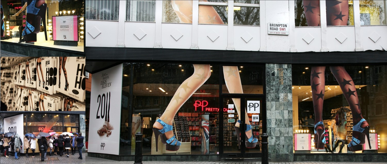 Pretty Polly Pop Up Shop, Leicester Square