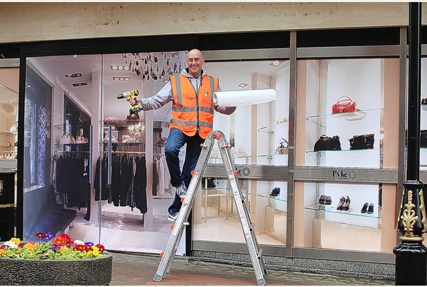 'Window dressing' for empty Newcastle shops