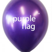 Purple Flag Balloon