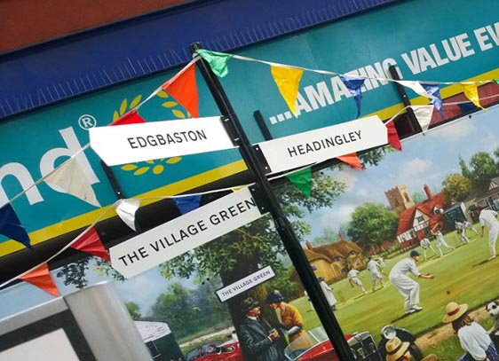 Village Green - Sign Post & Bunting